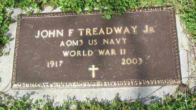 TREADWAY JR (VETERAN WWII), JOHN F - Marion County, Arkansas | JOHN F TREADWAY JR (VETERAN WWII) - Arkansas Gravestone Photos