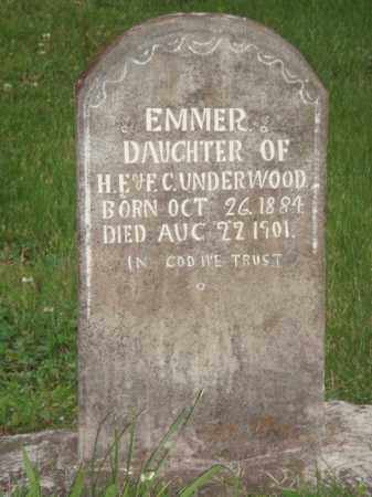 UNDERWOOD, EMMER - Marion County, Arkansas | EMMER UNDERWOOD - Arkansas Gravestone Photos
