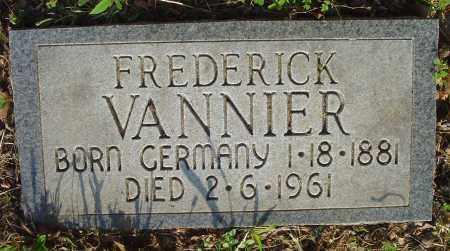 VANNIER, FREDERICK - Marion County, Arkansas | FREDERICK VANNIER - Arkansas Gravestone Photos