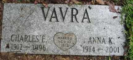 VAVRA, ANNA K. - Marion County, Arkansas | ANNA K. VAVRA - Arkansas Gravestone Photos