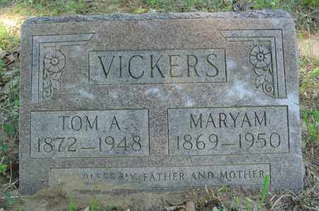 VICKERS, MARYAM - Marion County, Arkansas | MARYAM VICKERS - Arkansas Gravestone Photos