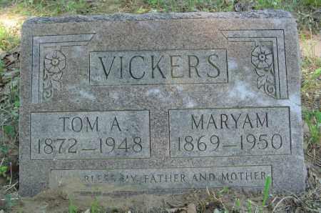 VICKERS, TOM A. - Marion County, Arkansas | TOM A. VICKERS - Arkansas Gravestone Photos