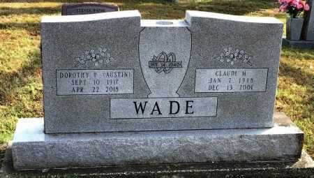 WADE, CLAUDE M. - Marion County, Arkansas | CLAUDE M. WADE - Arkansas Gravestone Photos
