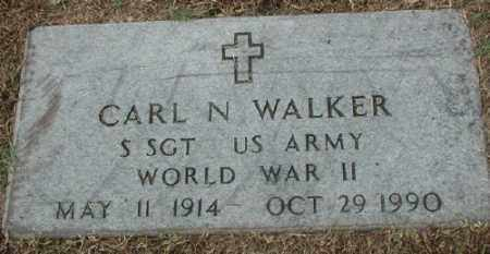 WALKER (VETERAN, WWII), CARL N. - Marion County, Arkansas | CARL N. WALKER (VETERAN, WWII) - Arkansas Gravestone Photos