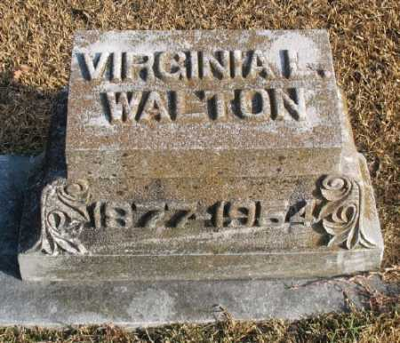 WALTON, VIRGINIA L. - Marion County, Arkansas | VIRGINIA L. WALTON - Arkansas Gravestone Photos