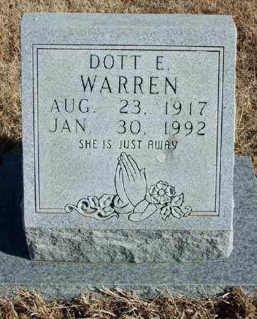 WARREN, DOTT E. - Marion County, Arkansas | DOTT E. WARREN - Arkansas Gravestone Photos