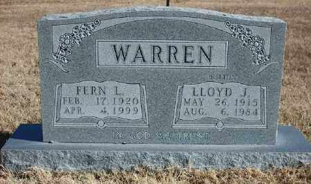 WARREN, LLOYD J. - Marion County, Arkansas | LLOYD J. WARREN - Arkansas Gravestone Photos