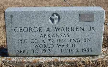 WARREN JR (VETERAN WWII), GEORGE A - Marion County, Arkansas | GEORGE A WARREN JR (VETERAN WWII) - Arkansas Gravestone Photos