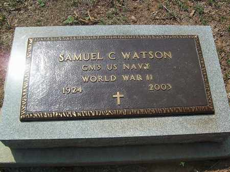 WATSON (VETERAN WWII), SAMUEL C - Marion County, Arkansas | SAMUEL C WATSON (VETERAN WWII) - Arkansas Gravestone Photos