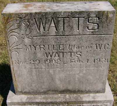 WOOD WATTS, MYRTLE - Marion County, Arkansas | MYRTLE WOOD WATTS - Arkansas Gravestone Photos