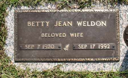 WELDON, BETTY JEAN - Marion County, Arkansas | BETTY JEAN WELDON - Arkansas Gravestone Photos