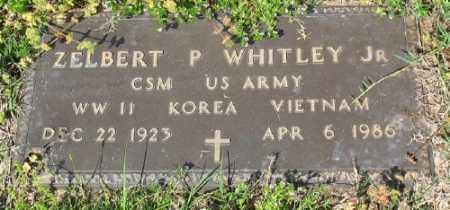 WHITLEY, JR (VETERAN 3 WARS), ZELBERT P - Marion County, Arkansas | ZELBERT P WHITLEY, JR (VETERAN 3 WARS) - Arkansas Gravestone Photos