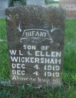 WICKERSHAM, INFANT SON - Marion County, Arkansas | INFANT SON WICKERSHAM - Arkansas Gravestone Photos