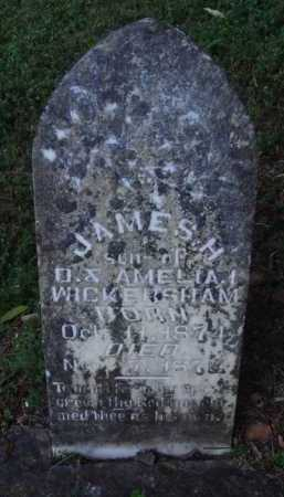 WICKERSHAM, JAMES H. - Marion County, Arkansas | JAMES H. WICKERSHAM - Arkansas Gravestone Photos