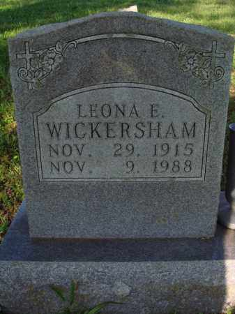 WICKERSHAM, LEONA E. - Marion County, Arkansas | LEONA E. WICKERSHAM - Arkansas Gravestone Photos