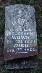 WICKERSHAM, MARY - Marion County, Arkansas | MARY WICKERSHAM - Arkansas Gravestone Photos