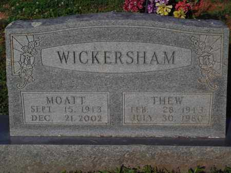 WICKERSHAM, MOATT - Marion County, Arkansas | MOATT WICKERSHAM - Arkansas Gravestone Photos