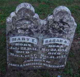 WICKERSHAM, SARAH A. - Marion County, Arkansas | SARAH A. WICKERSHAM - Arkansas Gravestone Photos