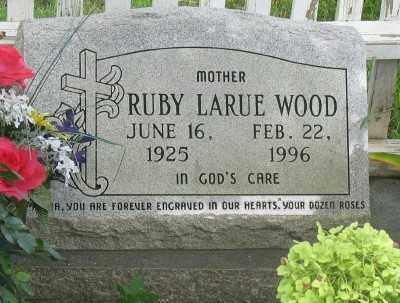 WOOD, RUBY LARUE - Marion County, Arkansas | RUBY LARUE WOOD - Arkansas Gravestone Photos