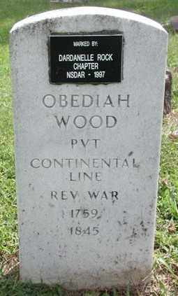 WOOD (VETERAN RW), OBEDIAH - Marion County, Arkansas | OBEDIAH WOOD (VETERAN RW) - Arkansas Gravestone Photos