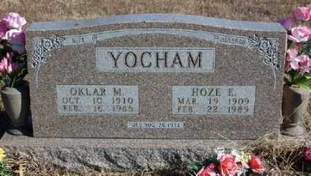 YOCHAM, HOZE E. - Marion County, Arkansas | HOZE E. YOCHAM - Arkansas Gravestone Photos