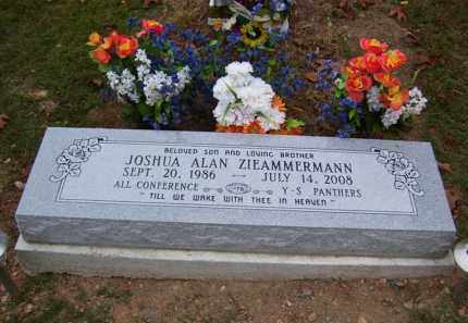 ZIEAMMERMANN, JOSHUA ALAN - Marion County, Arkansas | JOSHUA ALAN ZIEAMMERMANN - Arkansas Gravestone Photos
