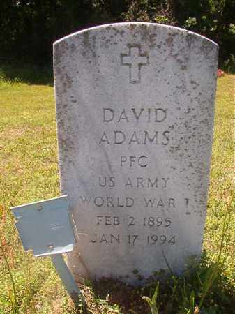 ADAMS (VETERAN WWI), DAVID - Miller County, Arkansas | DAVID ADAMS (VETERAN WWI) - Arkansas Gravestone Photos