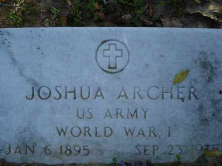 ARCHER (VETERAN WWI), JOSHUA - Miller County, Arkansas | JOSHUA ARCHER (VETERAN WWI) - Arkansas Gravestone Photos