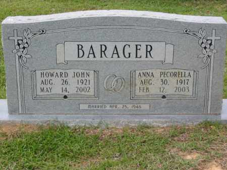 BARAGER (VETERAN WWII), HOWARD JOHN - Miller County, Arkansas | HOWARD JOHN BARAGER (VETERAN WWII) - Arkansas Gravestone Photos