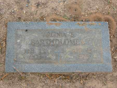 BARTHOLOMEW, VIRGINIA E. - Miller County, Arkansas | VIRGINIA E. BARTHOLOMEW - Arkansas Gravestone Photos