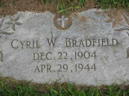 BRADFIELD, CYRIL W. - Miller County, Arkansas | CYRIL W. BRADFIELD - Arkansas Gravestone Photos