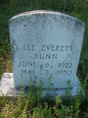 BUNN, LEE EVERETT - Miller County, Arkansas | LEE EVERETT BUNN - Arkansas Gravestone Photos