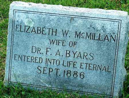 BYARS, ELIZABETH W. - Miller County, Arkansas | ELIZABETH W. BYARS - Arkansas Gravestone Photos