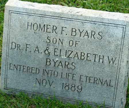 BYARS, HOMER F. - Miller County, Arkansas | HOMER F. BYARS - Arkansas Gravestone Photos