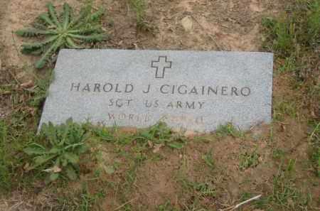 CIGAINERO  (VETERAN WWII), HAROLD JOSEPH - Miller County, Arkansas | HAROLD JOSEPH CIGAINERO  (VETERAN WWII) - Arkansas Gravestone Photos