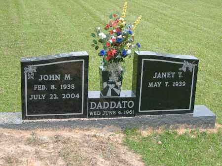 DADDATO, JOHN M. - Miller County, Arkansas | JOHN M. DADDATO - Arkansas Gravestone Photos