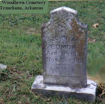 EDMON, JOHN ALLEN MORRIS - Miller County, Arkansas | JOHN ALLEN MORRIS EDMON - Arkansas Gravestone Photos