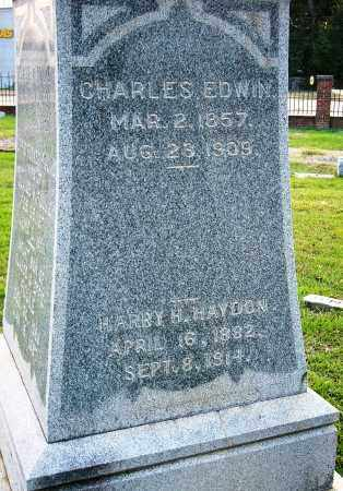 EDWIN, CHARLES (CLOSEUP) - Miller County, Arkansas | CHARLES (CLOSEUP) EDWIN - Arkansas Gravestone Photos