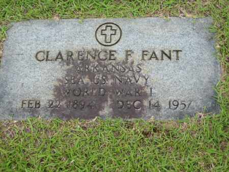 FANT  (VETERAN WWI), CLARENCE F - Miller County, Arkansas | CLARENCE F FANT  (VETERAN WWI) - Arkansas Gravestone Photos