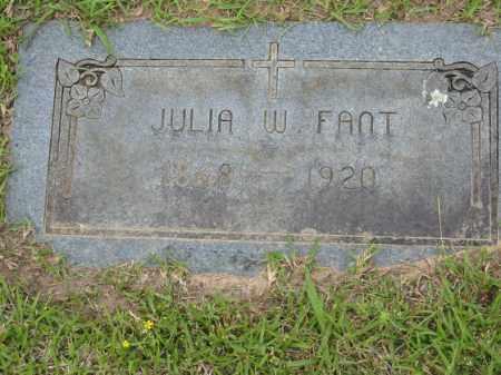 FANT, JULIA W. - Miller County, Arkansas | JULIA W. FANT - Arkansas Gravestone Photos
