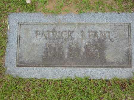 FANT, PATRICK J. - Miller County, Arkansas | PATRICK J. FANT - Arkansas Gravestone Photos