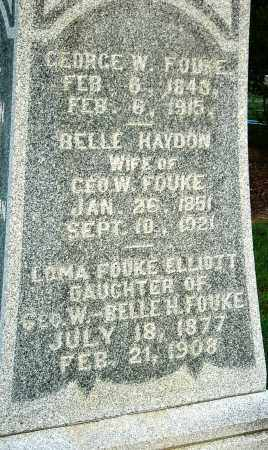 HAYDON FOUKE, BELLE (CLOSE UP) - Miller County, Arkansas | BELLE (CLOSE UP) HAYDON FOUKE - Arkansas Gravestone Photos