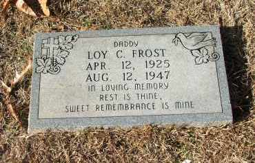 FROST, LOY C (FOOT MARKER) - Miller County, Arkansas | LOY C (FOOT MARKER) FROST - Arkansas Gravestone Photos
