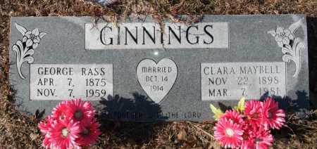 GINNINGS, GEORGE RASS - Miller County, Arkansas | GEORGE RASS GINNINGS - Arkansas Gravestone Photos