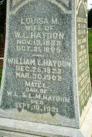 HAYDON, WILLIAM L. (CLOSE UP) - Miller County, Arkansas | WILLIAM L. (CLOSE UP) HAYDON - Arkansas Gravestone Photos