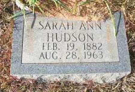 HUDSON, SARAH ANN - Miller County, Arkansas | SARAH ANN HUDSON - Arkansas Gravestone Photos