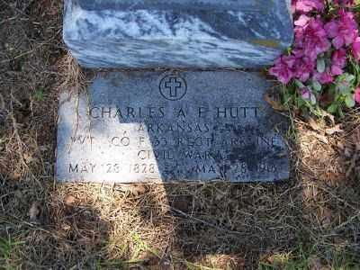 HUTT  (VETERAN CSA), CHARLES A - Miller County, Arkansas | CHARLES A HUTT  (VETERAN CSA) - Arkansas Gravestone Photos