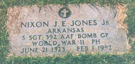JONES, JR. (VETERAN WWII), NIXON J. E. - Miller County, Arkansas | NIXON J. E. JONES, JR. (VETERAN WWII) - Arkansas Gravestone Photos