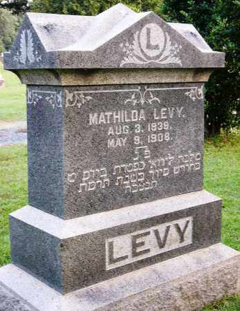 LEVY, MATHILDA - Miller County, Arkansas | MATHILDA LEVY - Arkansas Gravestone Photos