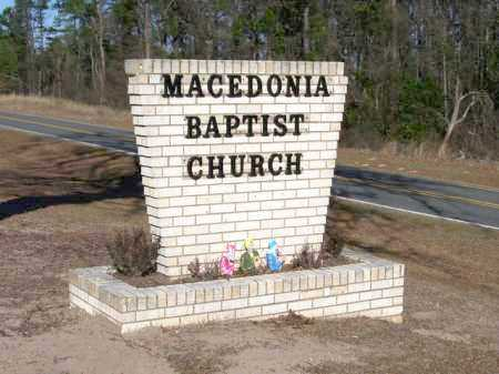 *MACEDONIA BAPTIST CHURCH SIGN,  - Miller County, Arkansas |  *MACEDONIA BAPTIST CHURCH SIGN - Arkansas Gravestone Photos
